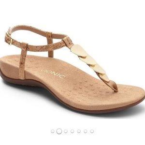 NWT sz6 Vionic Rest Miami cork t-strap sandals